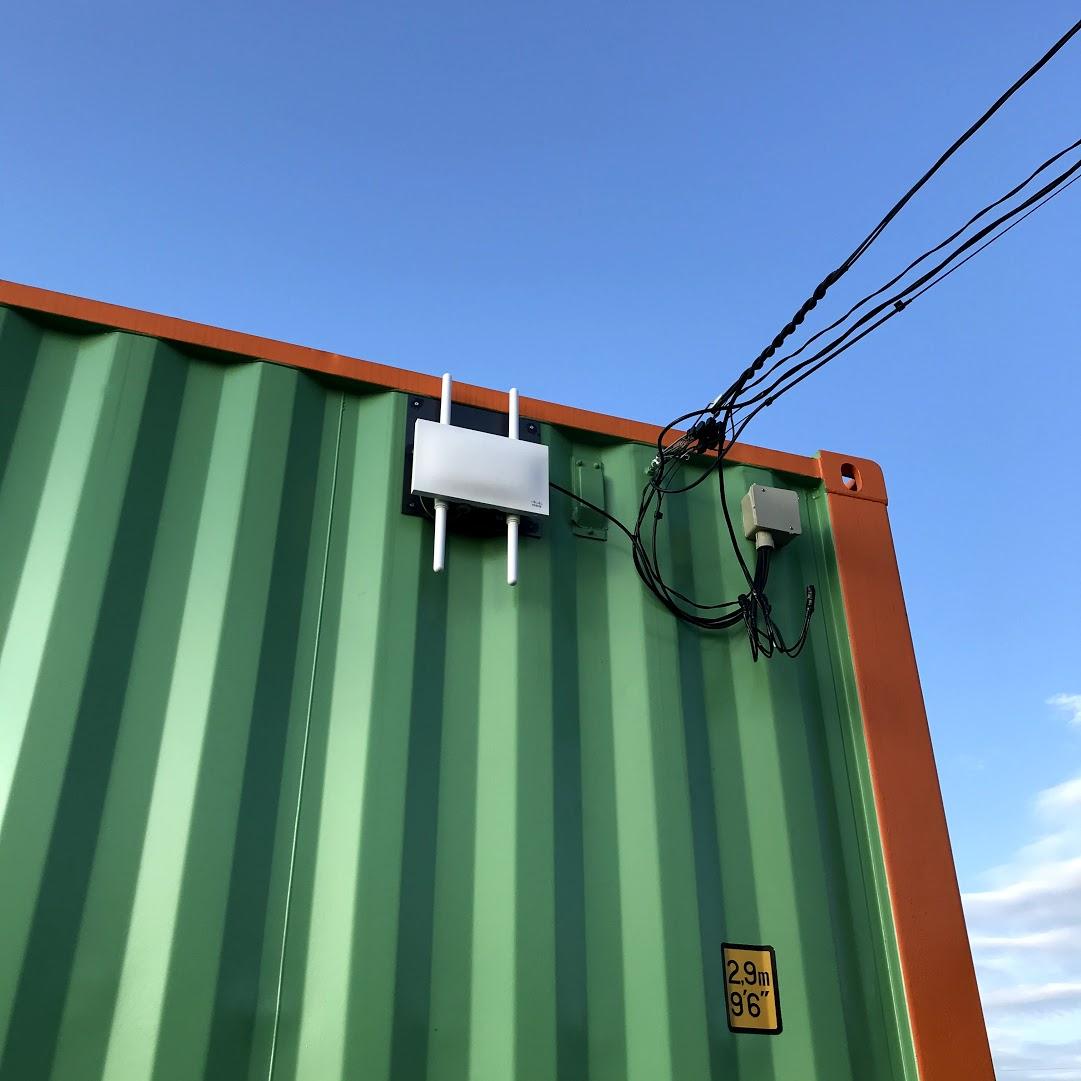 屋外用Wi-fiアクセスポイント設置!
